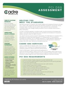 PCI Self Assessment Questionnaire Assistance   Cadre