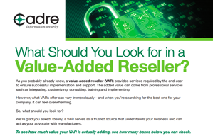 Value Added Reseller Checklist